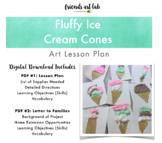 Fluffy Ice Cream Cone Art Project (Sensory, Multi-Media, Shaving Cream)