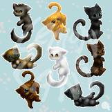 Fluffy Kitties Clip Art