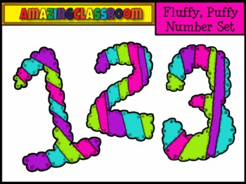 Colorful Number Clip Art Set 0-9