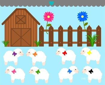 Fluffy Sheep Clip Art