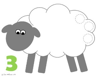 Spring and Easter Counting Practice 1-20 - Fluffy Sheep