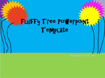 fluffy tree powerpoint template for dr seuss or earth day unit tpt