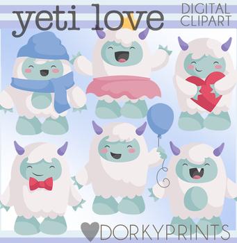 Fluffy Yeti Clipart