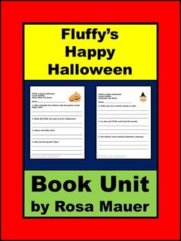 Fluffy's Happy Halloween Literacy Book Unit