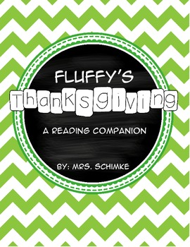 Fluffy's Thanksgiving Read and Response Pack