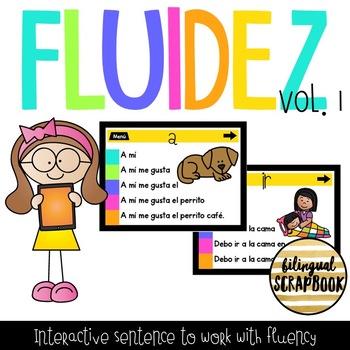 Fluidez Digital Vol. 1 (Interactive PDF with sentence to build fluency)