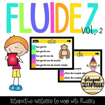 Fluidez Digital Vol. 2 (Interactive PDF with sentence to build fluency)