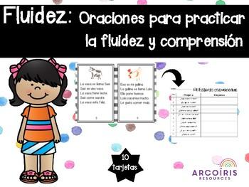 Fluidez: Oraciones para practicar la fluidez y comprension (Spanish)
