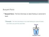 Fluids - Buoyant Force