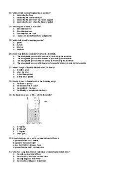 Fluids Multiple Choice Exam Bank