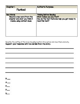 Flunked : Fairy Tale Reform School Novel Study -Chapter Text-dependent questions