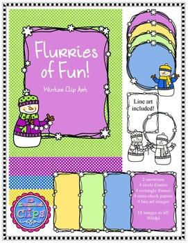 Flurries of Fun - Winter Clip Art Collection