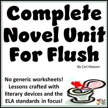 Flush Novel Unit ~ Activities, Handouts, Tests!
