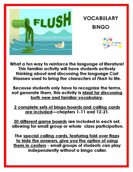 Flush Vocabulary Bingo