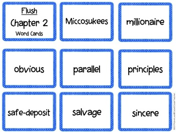 Flush Vocabulary Chapter by Chapter