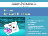 Flush by Carl Hiaasen Quizzes and Independent Reading Package