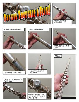 Flute Assembly Comic Strip