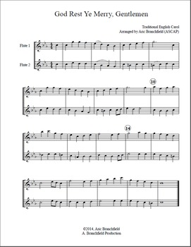 Flute Duet Christmas Carols