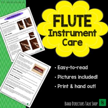 Flute Instrument Care