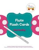 Flute Music Notes Flash Cards