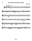 Flute Part: Don't Bother Me/Be My Friend