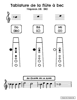Flûte à bec- Sib