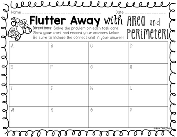 Flutter Away with Area and Perimeter! {FREE}