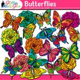 Butterfly & Flower Clip Art {Great for Spring Activities & Bulletin Board Ideas}