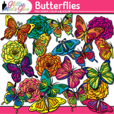 Butterfly & Flower Clip Art | Great for Spring Activities & Bulletin Board Ideas
