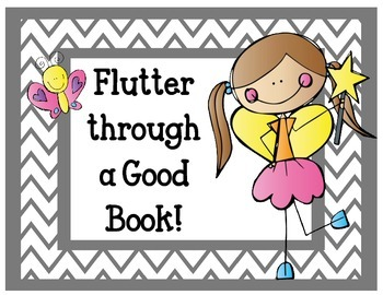 Flutter through a Good Book Bulletin Board Writing Assignment Reading Library