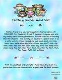 Fluttery Friends Word Sort (bl, cl, fl)