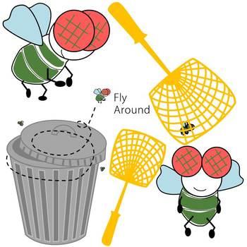 Fly Around Clip art