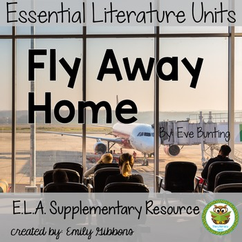 Fly Away Home By Eve Bunting-Book Unit (Common Core aligned)