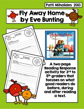 Fly Away Home by Eve Bunting: A reading response activity
