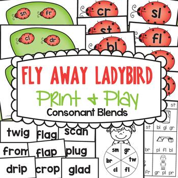 Blends - Fly Away Ladybird - Games / Centers