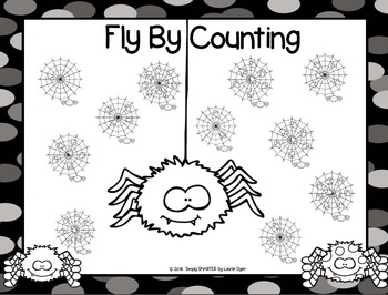 Fly By Counting:  NO PREP Spider Roll and Cover Game