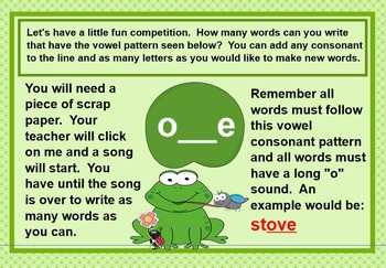 """Fly Catchin' Frogs with """"O"""" Vowel"""