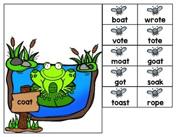 Rhyming Words Game: Fly-Catching Frogs {Differentiated!}