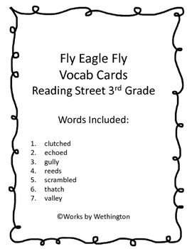 Fly Eagle Fly vocabulary cards
