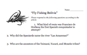 Fly Fishing Bolivia Article, Questions, & BONUS Documentary Questions