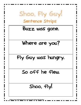 Fly Guy Fluency Game and Exit Slip