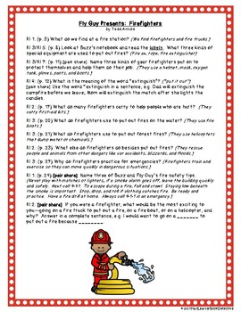 Fly Guy Presents Firefighters: Text-Dependent Questions and more!