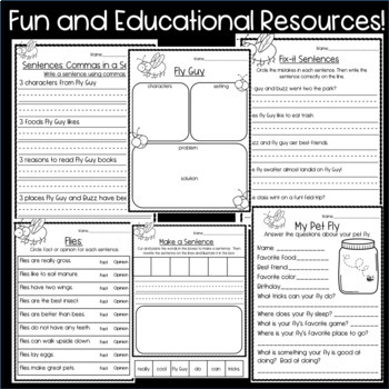 Fly Guy Resources: Comprehension Questions, Non-fiction Texts and more!