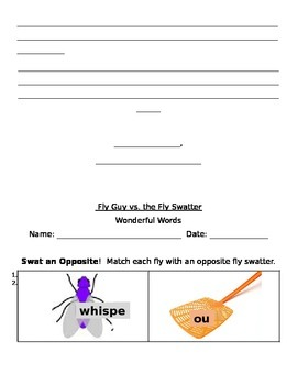 Fly Guy vs. the Fly Swatter Guided Reading Packet