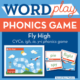 Fly High long vowel CVCe, igh, ie, y=i Phonics Game - Word