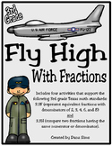 Fly High With Fractions: 3rd Grade Texas Math 3.3F and 3.3H STAAR Practice