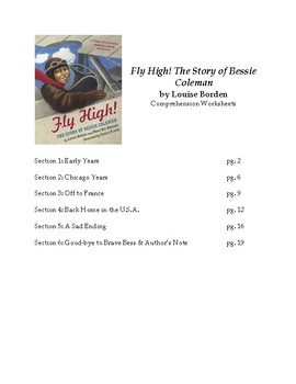 Fly High the Story of Bessie Coleman by Louise Borden