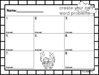 Create Word Problems Task Cards- Fly Into Spring!