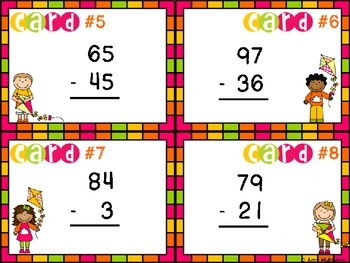 Fly In To Spring- Subtraction Task Cards FREEBIE!