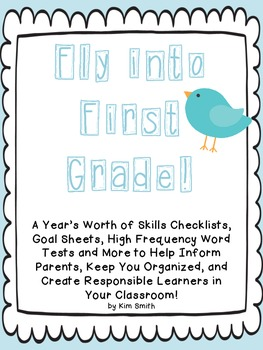 Fly Into First Grade!  EDITABLE Common Core Checklists, Goal Sheets, & More!